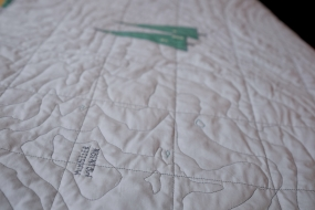 Contour Map Quilt of Whistler & Blackcomb, close up on Whistler mountain