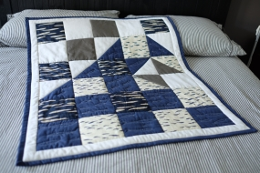 Layla's Whale, wave Quilt
