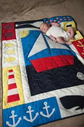 Jack with his Nordic Sailing Quilt