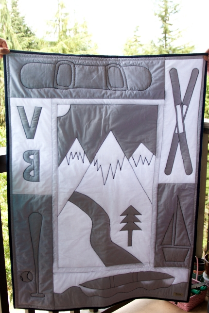 Hannah's Mountain Quilt, back