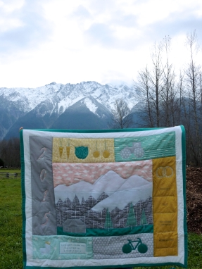 Elias' Farming Pemberton Mountain Quilt, in Pemberton