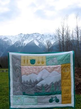 Elias' Farming Pemberton Mountain Quilt, in Pemberton
