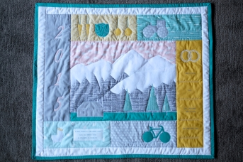 Elias' Farming Pemberton Mountain Quilt