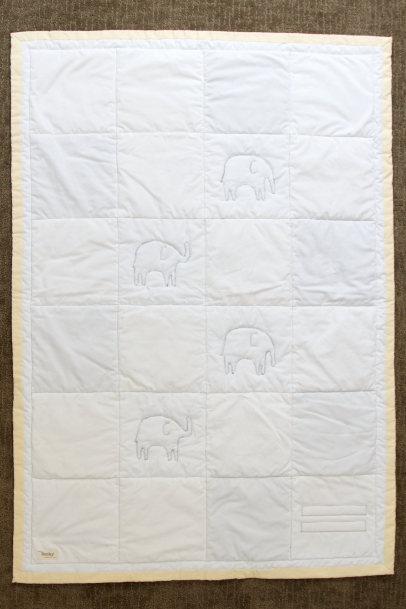 Acelli's Yellow Elephant Quilt, back