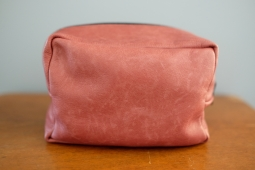 Brown Leather Zip Bag