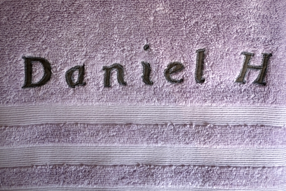 Customised wedding gift towels with names